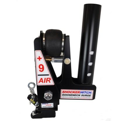 Shocker Gooseneck Air Hitch & Extension Coupler - Round Stem