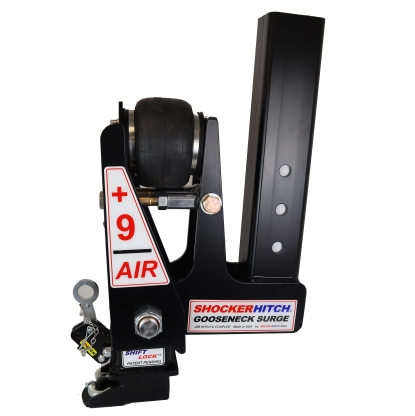 Shocker Gooseneck Air Hitch & Extension Coupler - Square Stem Top Crank