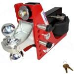 3 Pack - Shocker Locking Hitch Pin & 2 Ball Mount Attachment Lock
