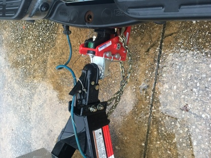 Shocker Air Hitch Installed Top View