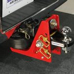 Shocker Air Receiver Hitch with Adjustable Standard Ball Mount on Truck