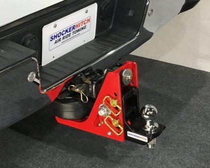 Shocker Air Hitch w Adjustable Drop Ball Mount Installed