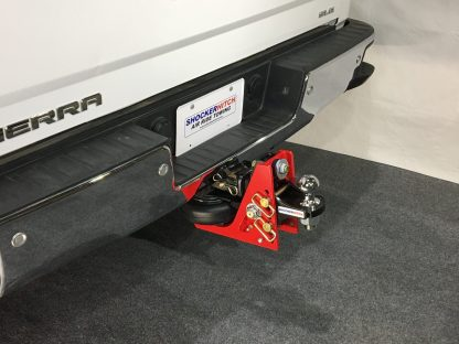Shocker HD Air Receiver Hitch with Adjustable Standard Ball Mount on Truck