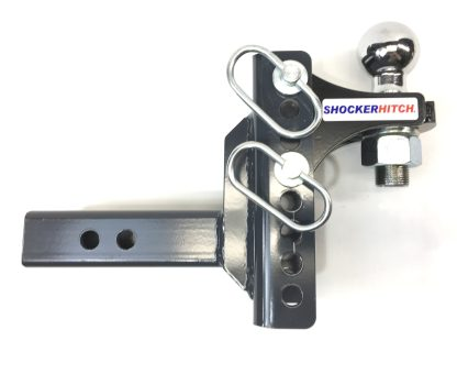 "SH-XR100-300-2 Shocker XR Adjustable Ball Mount with 2"" Hitch Ball"