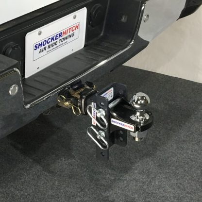 Shocker XR Adjustable Ball Mount with Hitch Ball Installed