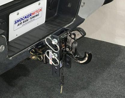 SHXR100330 Shocker XR Adjustable Pintle Hook Ball Mount Installed Open