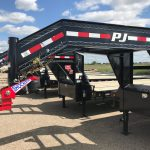 Shocker Gooseneck Air Hitch on PJ Trailer