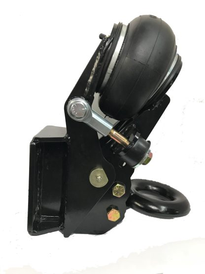 Shocker Air Trailer Tongue Mount Pintle Ring Square Plate Mount Side View