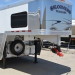 Bloomer Trailer with Shocker Surge Air Hitch Coupler Installed