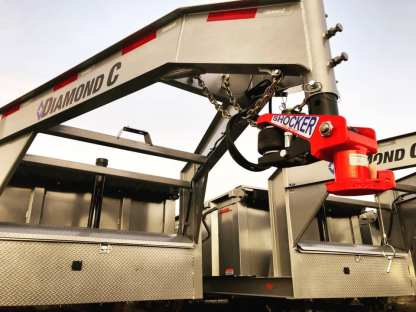 Shocker Gooseneck Air Hitch on Diamond C Trailer