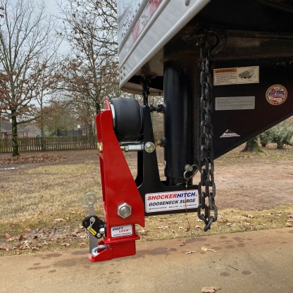 Gooseneck Air Hitch w9 Extension on Horse Trailer