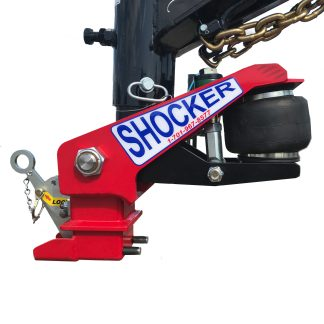 Gooseneck Surge Air Hitch & Shift Lock Coupler Installed