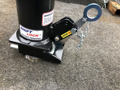 Shift Lock Gooseneck Coupler - Latched onto Ball