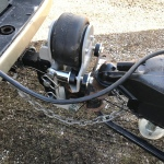 Shocker Air Equalizer for Weight Distribution Hitches Installed on Truck Camper