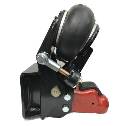 """Shocker Air Trailer Tongue Mount Hitch with 2-5/16"""" Cast Coupler - Square Plate Mount"""