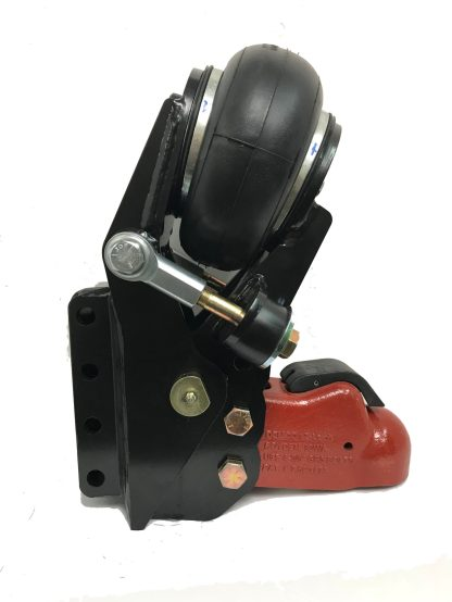 """Shocker Air Trailer Tongue Mount Hitch with 2-5/16"""" Cast Coupler - Vertical Channel Mount"""