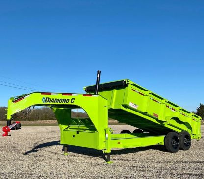 Shocker Gooseneck Air Hitch on Diamond C Dump Trailer