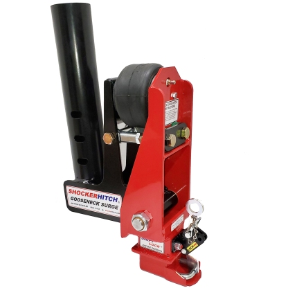 Shocker Gooseneck Air Hitch with Coupler 9 Forward