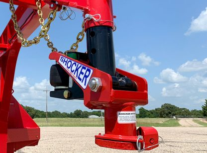 Shocker Gooseneck Surge Air Hitch on Diamond C Trailer