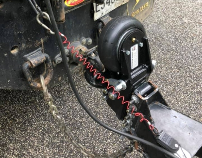 Air Trailer Tongue Pintle Ring Installed